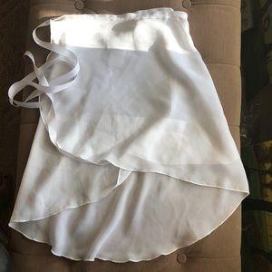 Capezio high-low georgette ballet wrap skirt